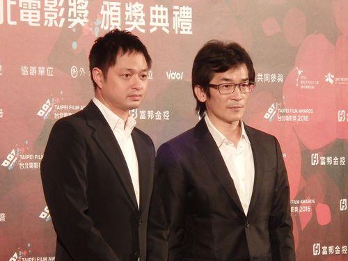 左からチェン・ヨウチェ(鄭有傑)監督、ウェイ・ダーション(魏徳聖)監督