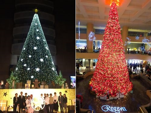 クリスマスツリー、台北の各地に続々と ロマンチックなムードに