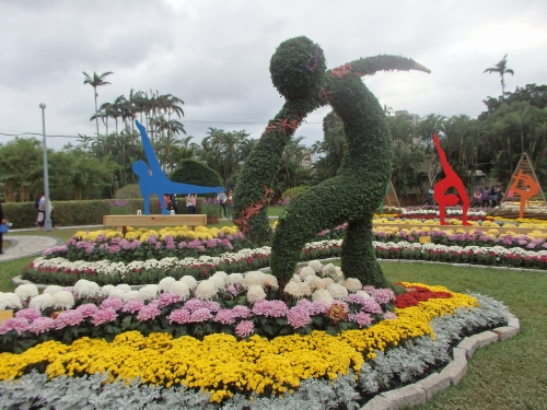 士林官邸の菊花展 台北の冬を華やかに彩る