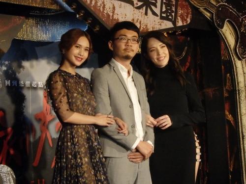 8月22日に台北市内で行われたプレミアイベントに登場したレイニー・ヤン(左)、チェン・ウェイハオ(程偉豪)監督(中央)、ティファニー・シュー