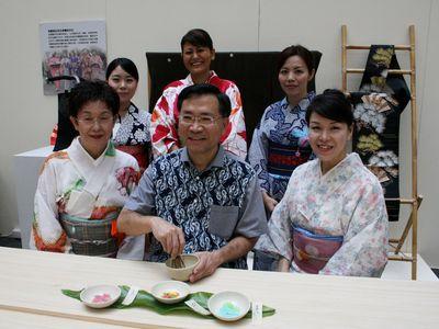 謝謝台湾、台中で日本茶道の実演会が開催