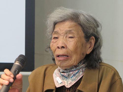 92歳の台湾女性、日本で講演  「慰安婦の歴史忘れないでほしい」