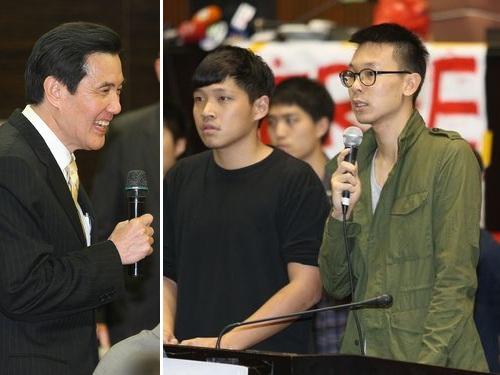 馬総統と抗議の学生団体代表  話し合いの調整つかず/台湾