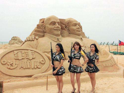 金門で砂の彫刻展 目玉作品は蒋...