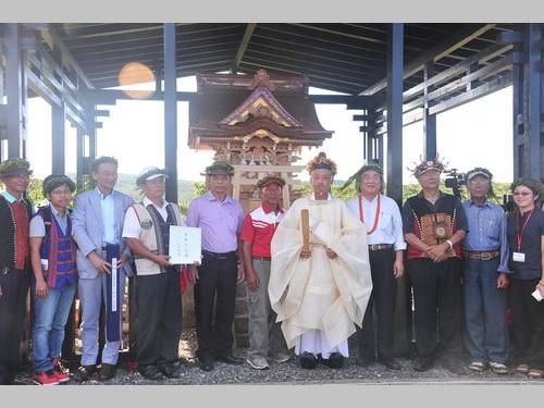 日本統治時代の神社、日本人の尽力で再建  李登輝氏もお祝い/台湾