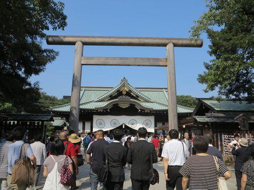 台湾、日本政治家の靖国参拝に遺憾表明  「平和と安定に尽力を」