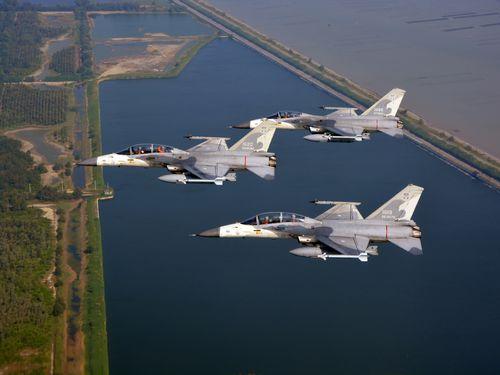 台湾のIDF経国号戦闘機=軍聞社提供