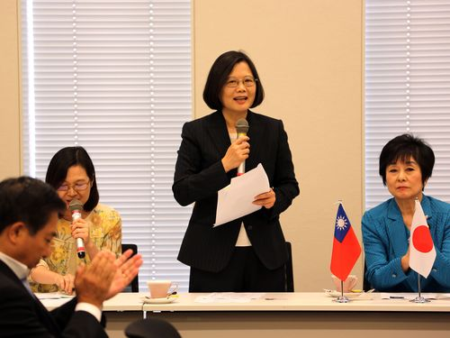 訪日中の民進党・蔡英文主席、日台の「絆」強調  国会議員との会談で