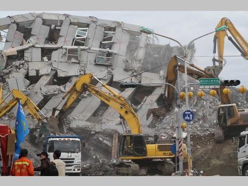 台湾南部地震  倒壊マンションの建設業者3人を拘束  手抜き工事の疑い