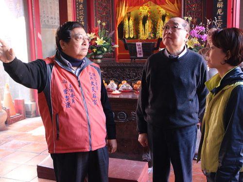 文化部長、台南の文化遺産を視察  地震による被害状況を確認/台湾
