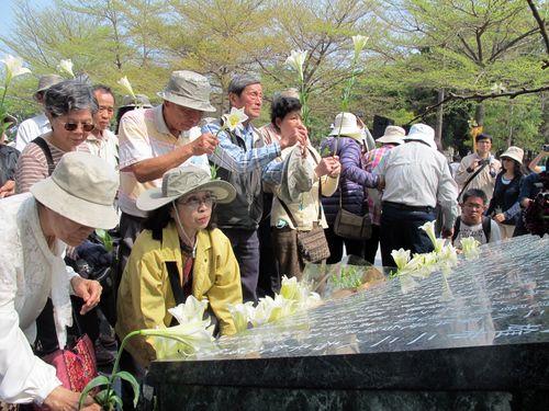資料写真=南部・高雄で昨年2月に行われた「二・二八事件」犠牲者の追悼式の様子