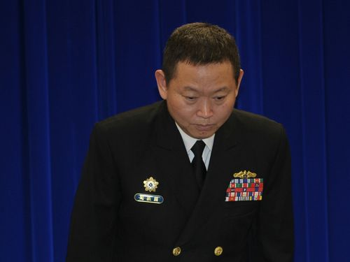 3月11日、憲兵の不当捜査で謝罪する軍幹部