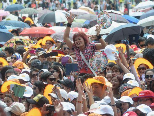 台北市主催のイベントに参加するインドネシア人労働者ら=2014年8月撮影