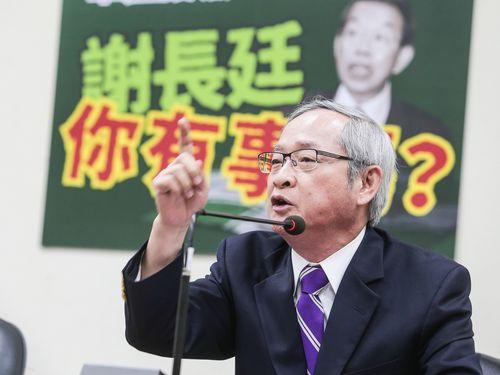 謝長廷氏を批判する林郁方・前立法委員