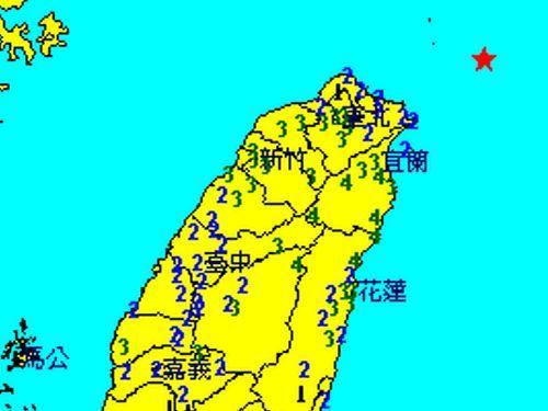 台湾東部で震度4  全土で揺れを観測  M7.2の地震