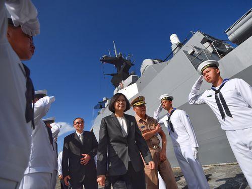 台湾、南シナ海に軍艦派遣  「国益守る決意示すもの」=蔡総統