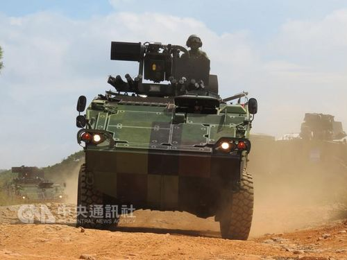 陸軍の演習始まる  市街戦想定し国産装甲車が出動/台湾