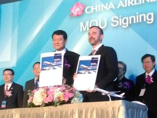 中華航空関連企業、エアバスと協力覚書に調印  機体整備の高度化へ/台湾