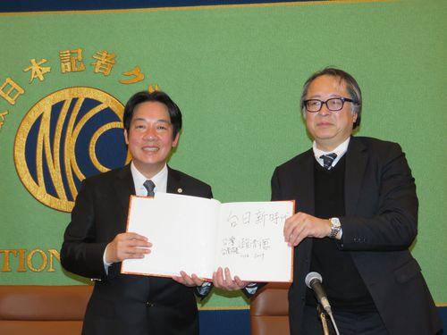 台南市長が訪日 地震の支援に感謝「日台は家族のような隣人」/台湾