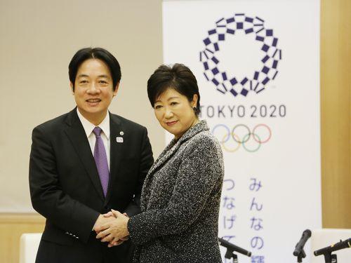 台南市長、小池都知事と会談 台湾南部地震時の支援に感謝