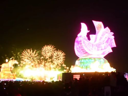 台湾ランタンフェス、正式に開幕  蔡英文総統「台湾人精神を象徴」
