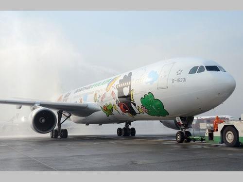 バッドばつ丸塗装機、日本の空にも  台北-福岡線で運航開始/台湾