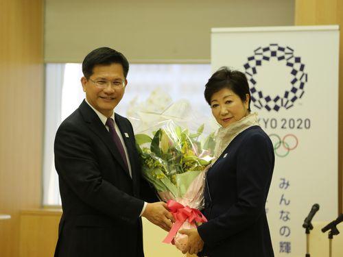 訪日の台中市長、小池東京都知事と会談  交流強化に期待