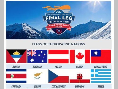 中華民国の国旗、スペシャルオリンピックスの聖火リレー公式サイトに掲載