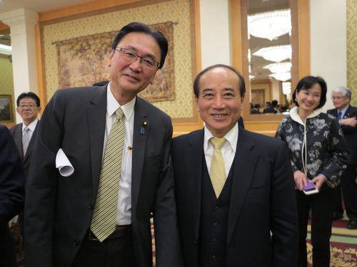 前立法院長率いる野党議員団が訪日 台湾の国際機関参加への協力要請