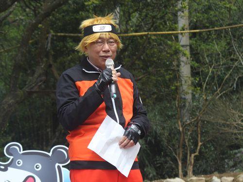 陽明山カラーフェス開幕 台北市長、人気アニメのコスプレでアピール