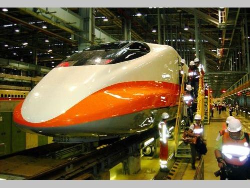 高雄市内にある台湾高速鉄道の車両工場