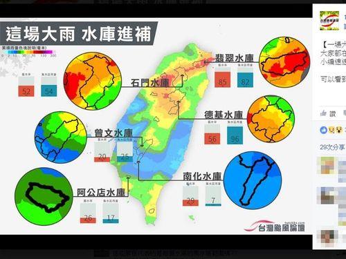 <水不足>降雨でダムの貯水量増加 一部で給水制限解除か/台湾