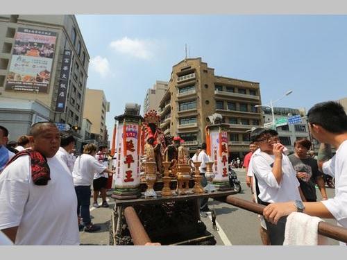 鄭成功のパレード、台南を練り歩く 台湾上陸356周年を記念
