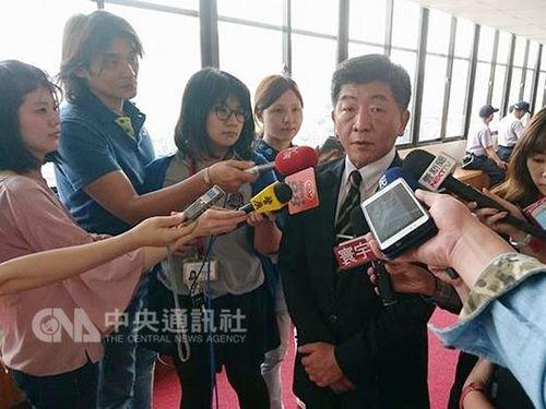 台灣のWHA参加についてメディアに説明する陳時中衛生福利部長