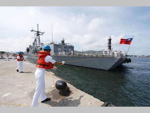 米から購入のフリゲートが到着 台湾海峡の防衛強化に期待