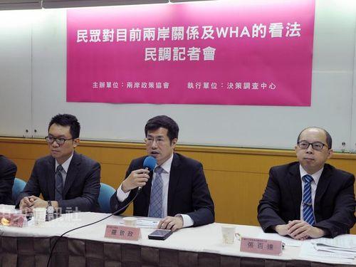 台湾WHA参加が困難に  56.2%が中国大陸に責任あり=世論調査