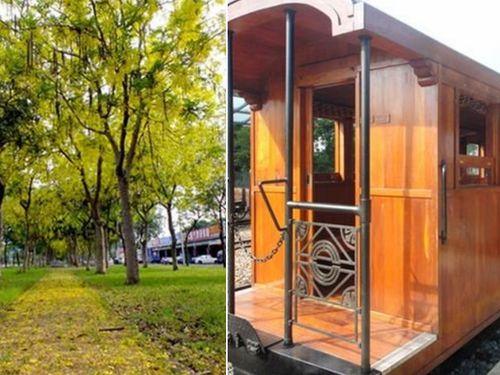 黄金のシャワーを浴びながらヒノキ列車で市内観光/台湾・嘉義