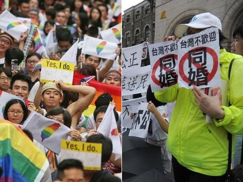 同性婚容認の憲法判断に賛否両論  反対派、国民投票求め署名へ/台湾
