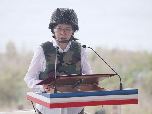 蔡英文総統、澎湖で演習視察 「わたしは国軍最大の後ろ盾」/台湾