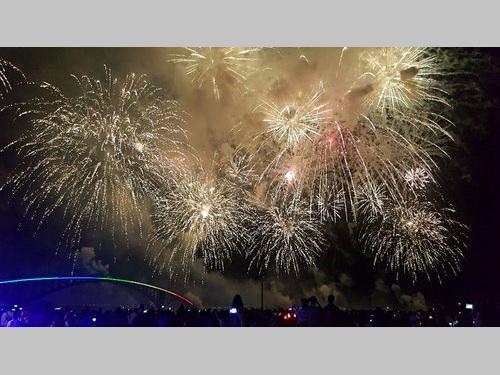 離島・澎湖の花火フェス、クライマックスを迎える/台湾