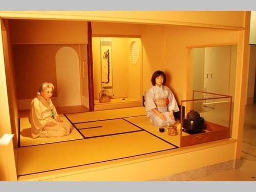 会場の一角に設けられる茶道実演・体験スペース