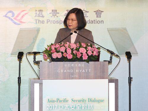 蔡総統「両岸関係の現状維持に尽力」=アジア太平洋安全対話フォーラム/台湾