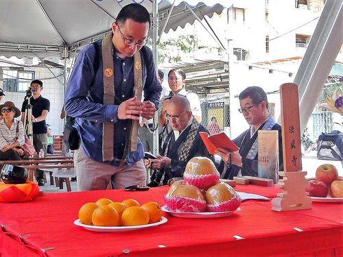 日本統治時代の「逍遥園」改修工事始まる 起工式には日本の僧侶も/台湾