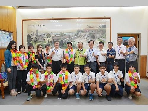 台湾の離島・澎湖で日本人中学生がホームステイ  交流の輪広げる