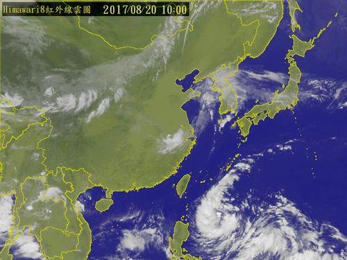 南部沖に熱帯低気圧 軽度台風に発達の恐れ/台湾