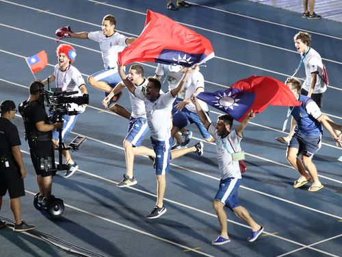 ユニバ閉会式に中華民国国旗持ち込んだアルゼンチン代表、FISUから警告/台湾