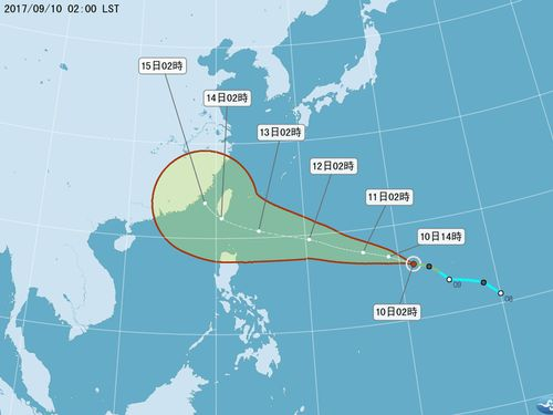 台風18号発生、台湾への影響が懸念 中度台風に発達の恐れも