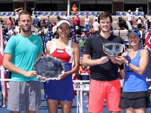 (左から)ビーナス、セン、マレー、ヒンギス=全米テニス協会の公式サイトより
