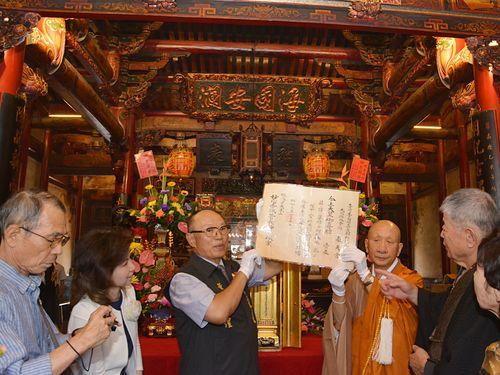 日本人僧侶ら、台湾の寺院で昭和天皇ゆかりの文化財拝観 約90年前に結んだ縁で
