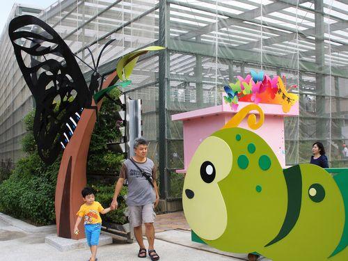 チョウの網室展示館、高雄にリニューアルオープン=台湾最大